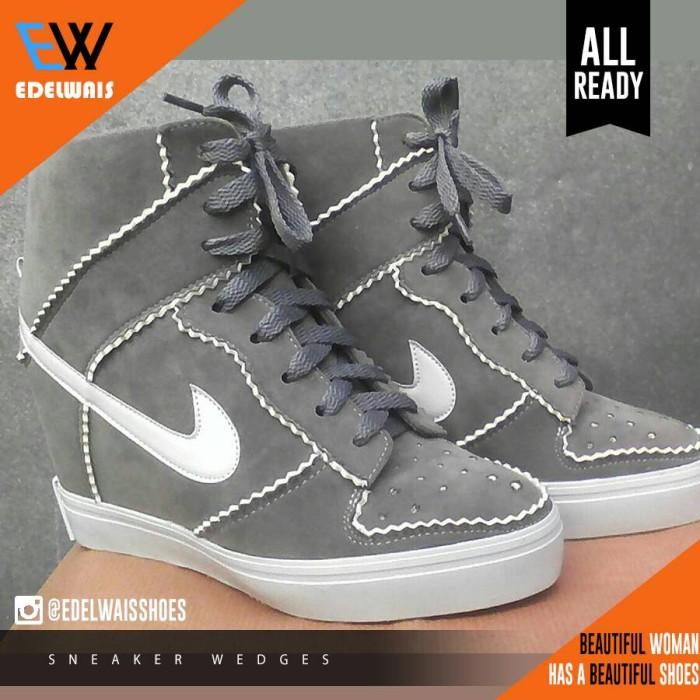 harga Sneaker wedges sepatu wanita olahraga nike adidas platform heels Tokopedia.com