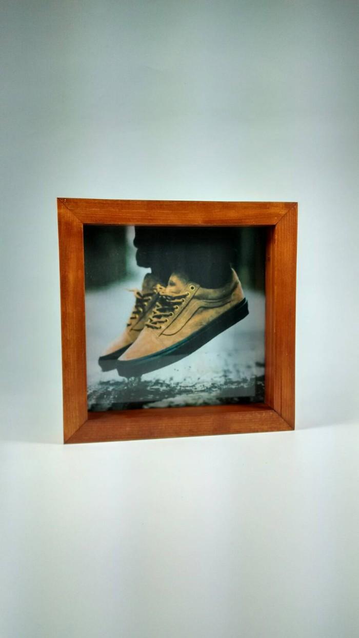 Jual F2020 23 25 Pigura 3D Slim Ukuran 20cm X 20cm Jati Belanda Brown Kota Malang ArtCreativ