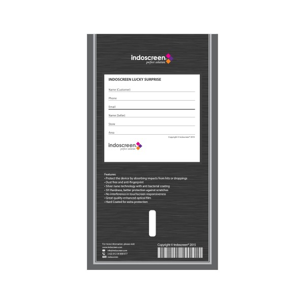 IndoScreen Anti Gores Anti Break Samsung Galaxy Tab S 10.5 - Clear