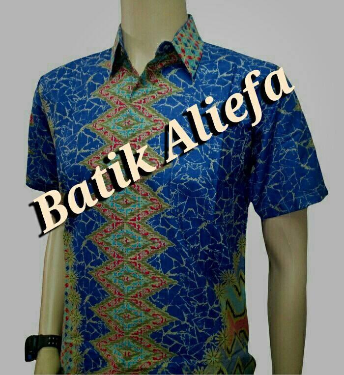 harga Kemeja hem batik pria rang-rang biru batik pekalongan Tokopedia.com