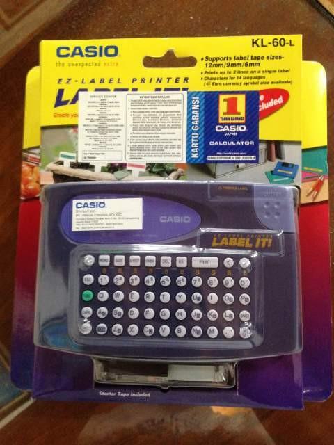 harga Label printer merk casio kl-60l Tokopedia.com