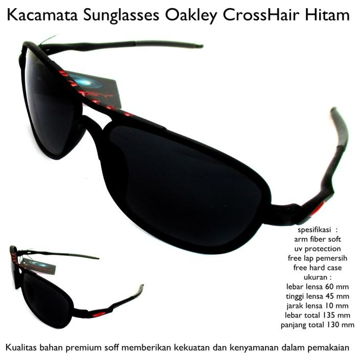 Kacamata sunglasses pria okley crosshair hitam fullset