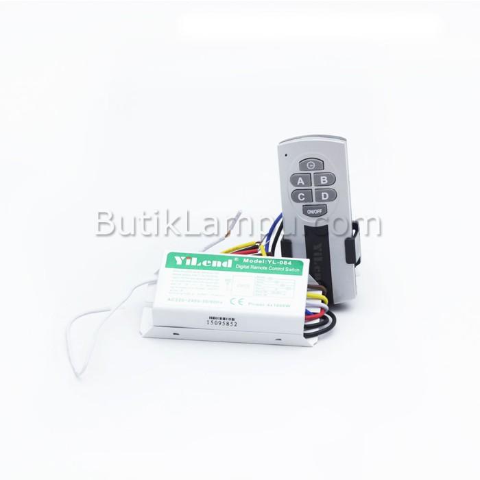 Foto Produk Saklar Remote / Remote Control Switch 4 Way - Yilend 4 Channel dari butiklampu