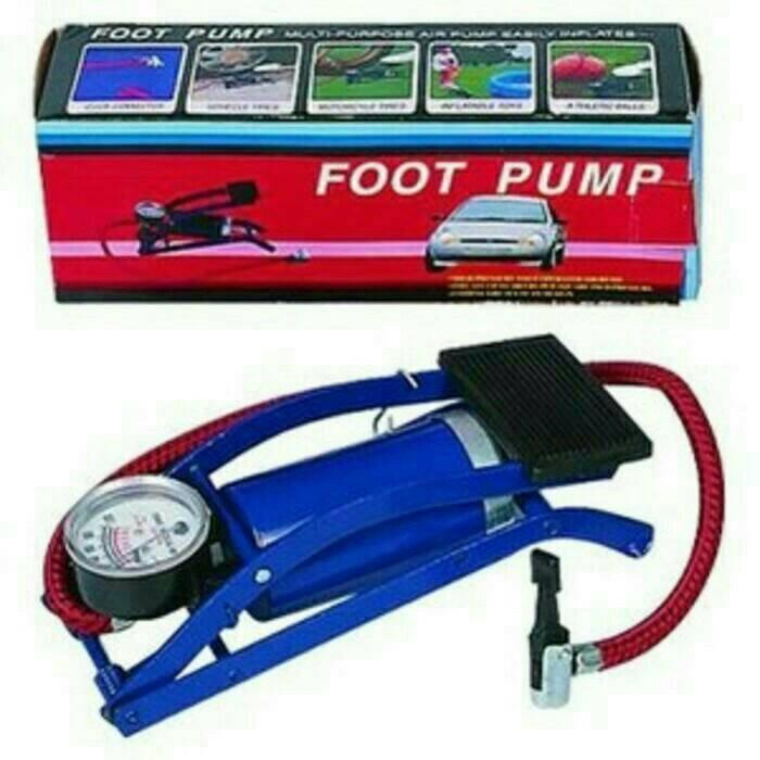 harga Foot pump pompa portable kaki buat sepeda,motor,mobil Tokopedia.com