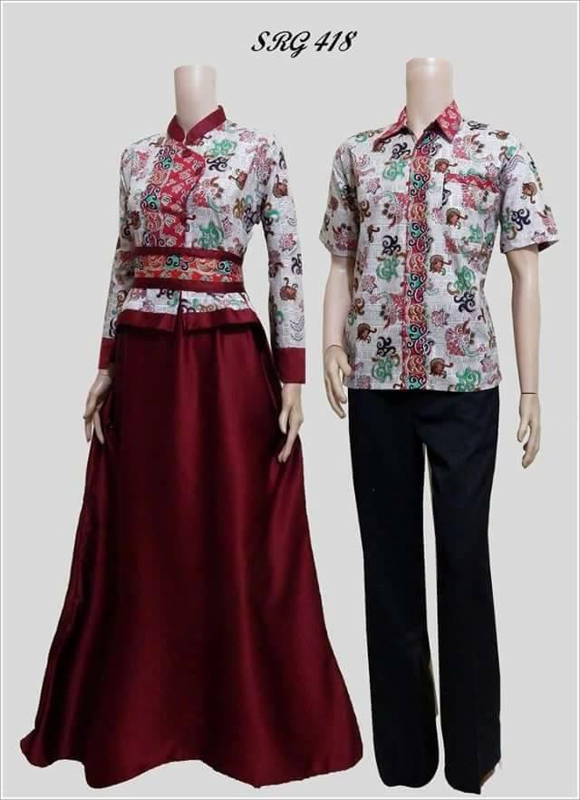 Jual Baju Couple Batik Terbaru Buat Lebaran 418 Kota Surakarta