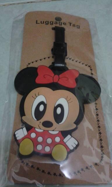 luggage tag / gantungan nama koper /tas minie mouse