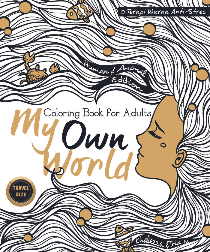 My Own World Coloring Book For Adults Travel Size