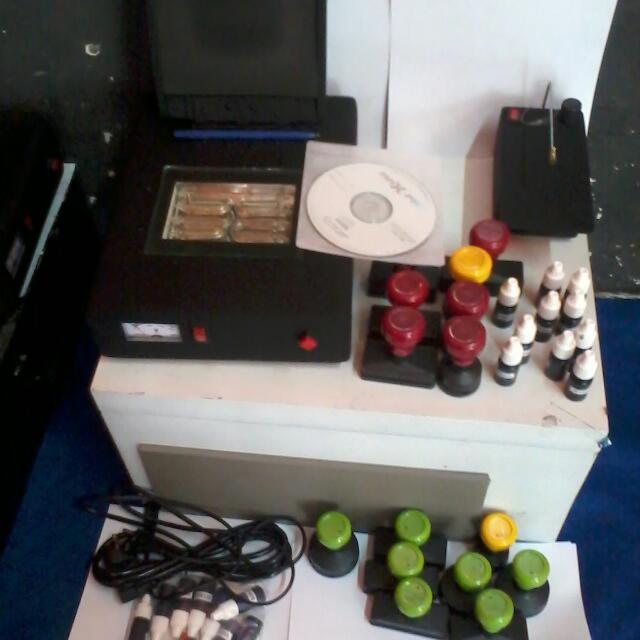 Foto Produk Paket Mesin Stempel Warna Jumbo 4 Lampu (komplit) dari toko mesin stempel