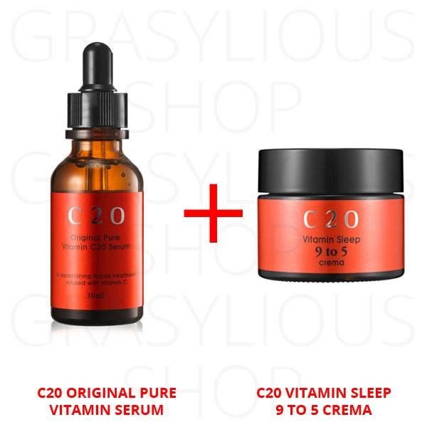 harga Paket hemat ost / c20 serum 10ml + vitamin sleep 9 to 5 crema 10ml Tokopedia.com