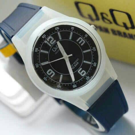 ... harga Jam tangan q q anak   perempuan vq-50 biru tua transparan qq vq50  ori 6261db24e0