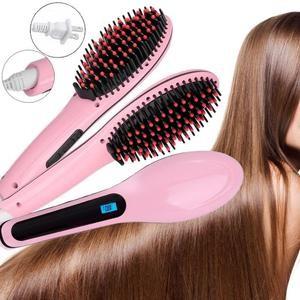 Hair Brush Electric Comb Hair Straightener - Sisir Catok Ion 2 In 1