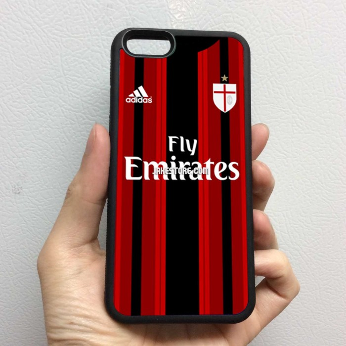 harga Ac milan jersey home iphone rubber case 4 4s 5 5s 5c 6 6s plus Tokopedia.com