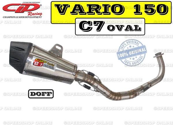 harga Knalpot cld racing vario 150fi type c7 silencer oval doff Tokopedia.com