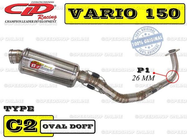 harga Knalpot cld racing vario 150fi type c2 silencer tri-oval doff Tokopedia.com