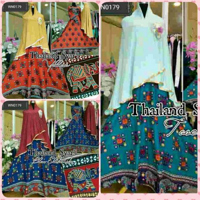harga Gamis thailand syari dress yellow busana muslim etnik busui Tokopedia.com