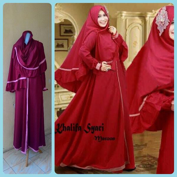 Jual Baju Gamis Murah Dan Cantik Khalifa 3d Hijab Tokopedia