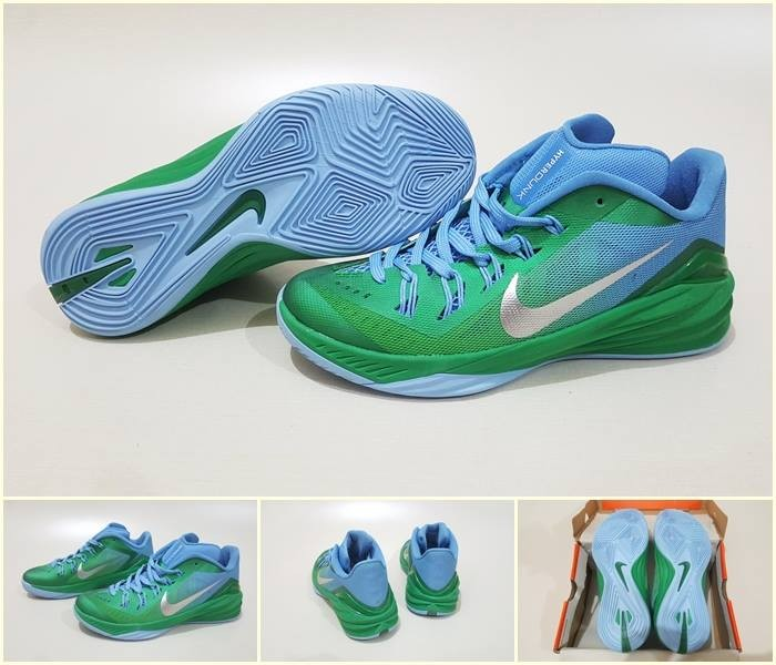 new product 0980a f983e ... australia sepatu basket nike hyperdunk 2014 low green blue 5530e 92675