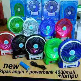 harga Kipas angin +power bank + lampu led murah jakarta Tokopedia.com