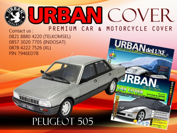 Peugeot 505 all black cover selimut mobil urban anti air waterproof