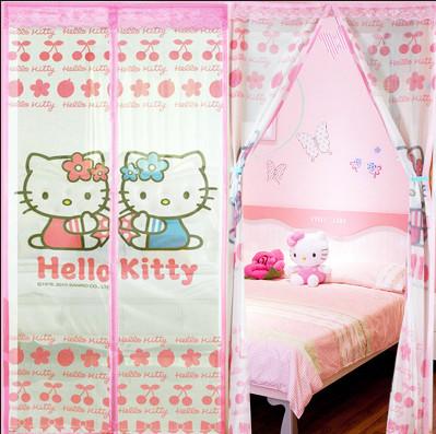 harga New tirai anti nyamuk hello kitty magnetic magnet curtain magic mesh Tokopedia.com
