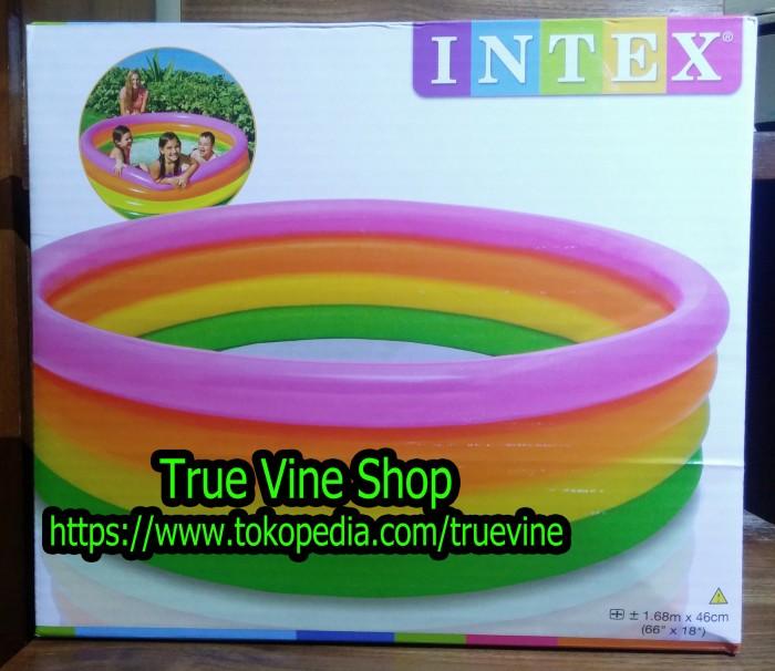 Jual Kolam Renang Plastik Karet Intex Ukuran Besar 1 68 Meter X 46 Cm Kota Surabaya True Vine Shop Tokopedia