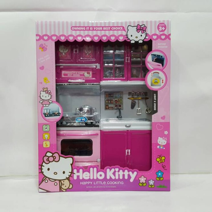 Mainan Dapur Mini Kitchen Set Hello Kitty