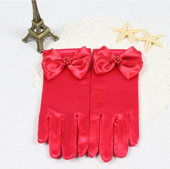 harga Sarung tangan anak model pendek variasi pita tutup 5 jari warna merah Tokopedia.com