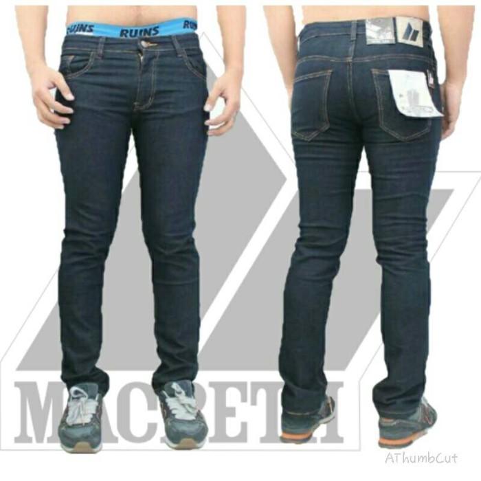 harga Jeans slimfit/stretch/skinny macbeth premium blueblack Tokopedia.com