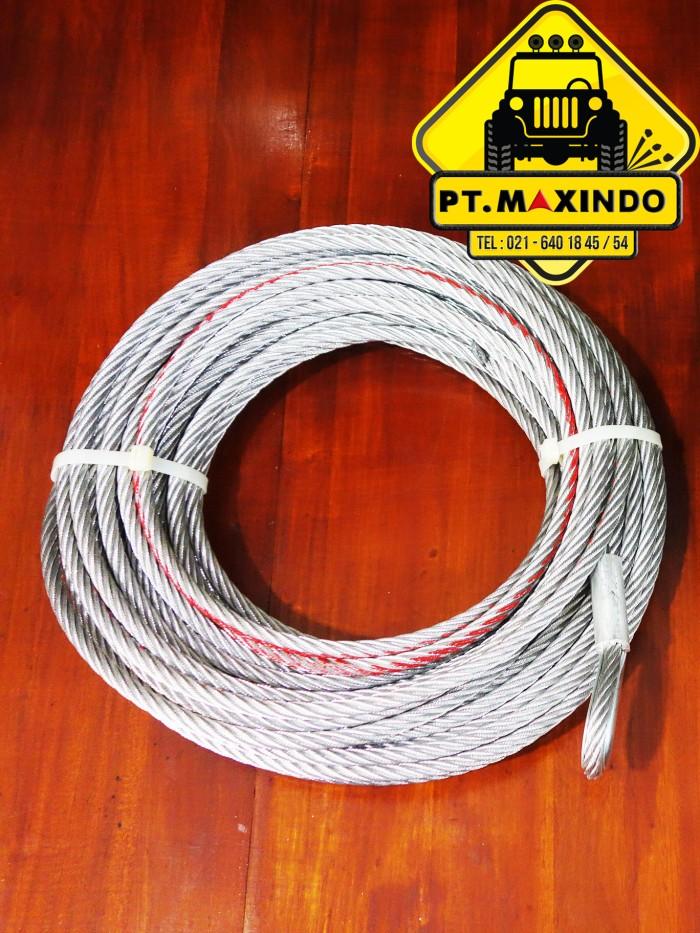 harga Tali sling baja / wire rope merk t-max ukuran 92mm x 285m u/ winch Tokopedia.com