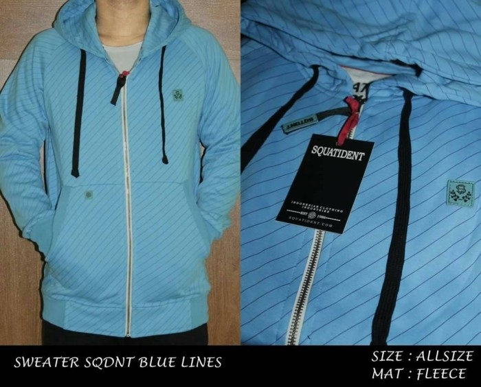 Jual Sweater Jaket pria Distro murah grosir squatident biru ... abd2903ac7