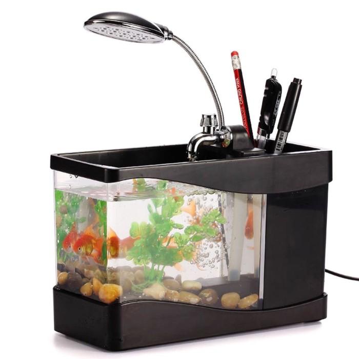 harga Usb desktop aquarium mini fish tank with running water - akuarium mini Tokopedia.com