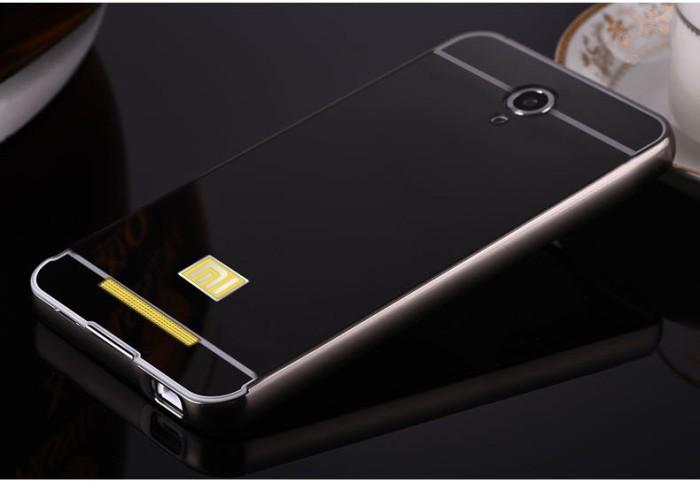 Case Xiaomi Redmi Note 2 bumper with mirror backdoor slide