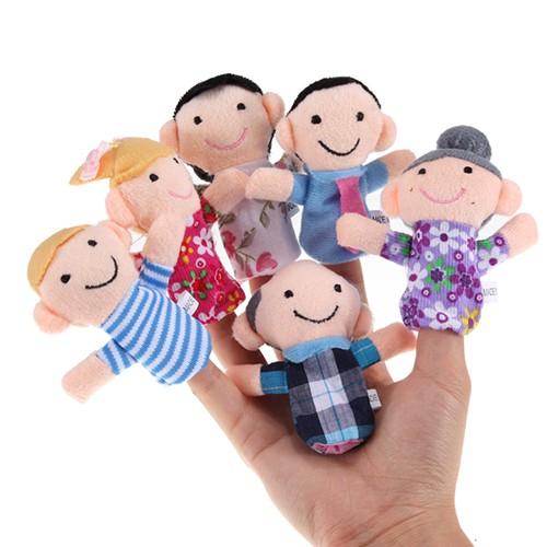 harga 1 set (6 pcs) boneka jari seri family / keluarga Tokopedia.com