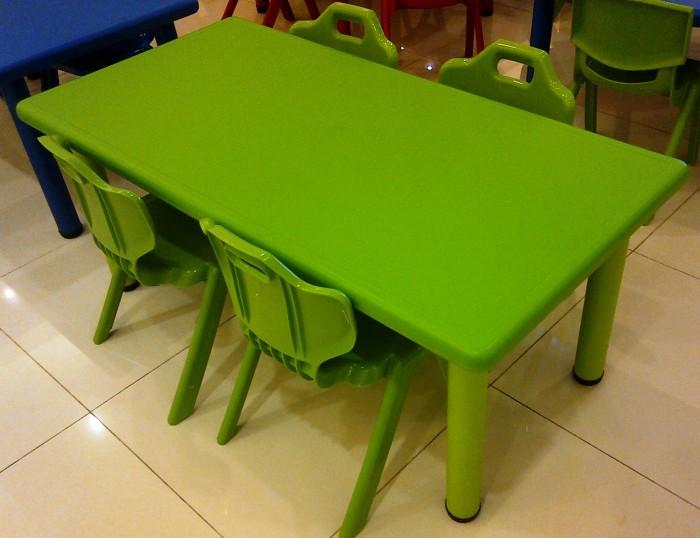 harga 1 Set Terdiri Dari Meja Belajar Anak Persegi Panjang 4 Kursi Plastik Tokopedia.com