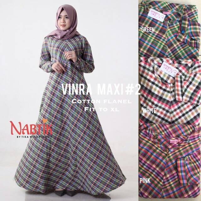 Jual Cantik Gamis Katun Flanel Vinra Maxy By Nabtik Meldhisty Hijab Tokopedia