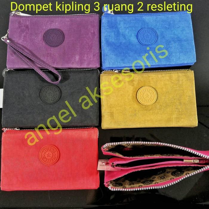 Jual dompet kipling 2 resleting 3 ruang ( travel bag kosmetik tas hp ... 0e036440b6