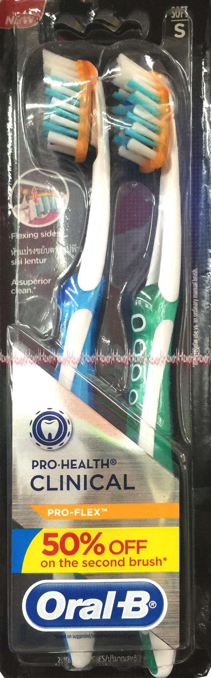 Jual Sikat gigi Oral B Pro Health Clinical Pro-Flex Oral-B Ujung ... eee8f6208f
