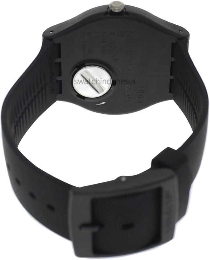 Jam Tangan SWATCH ORIGINAL 100% SUOB702 BLACK REBEL murah hitam .
