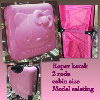 Tas Koper kotak Hello Kitty ukuran 40cm x 40cm x 25cm, bahan fiber