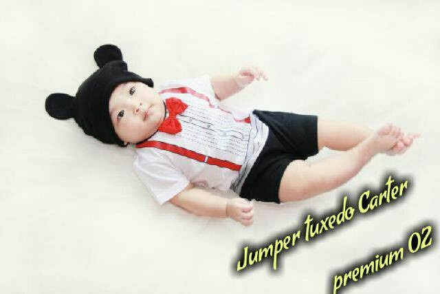 harga Jumper pendek / romper pendek tuxedo carter premium 02 Tokopedia.com