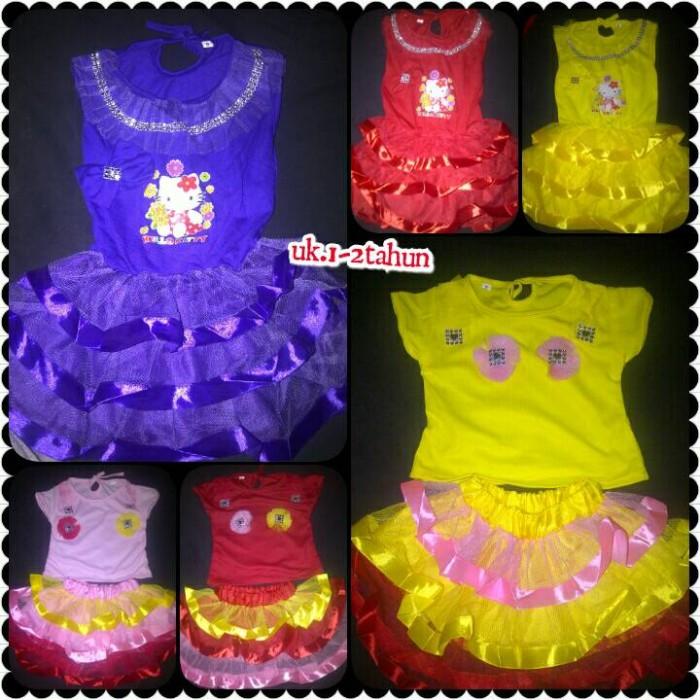 baju bayi perempuan gaun Dress Pesta Anak Dress Tutu Pita Hello Kitty