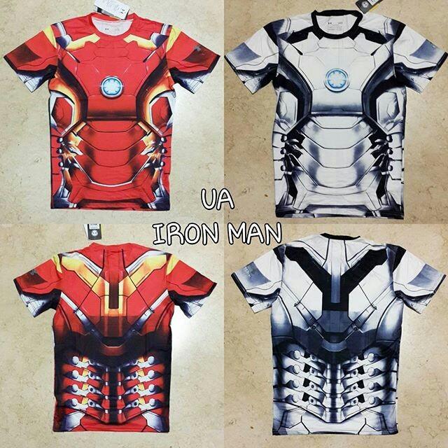 Jual Baselayer Iron man Under Armour Superhero - baju olahraga gym ... c067cd9c27