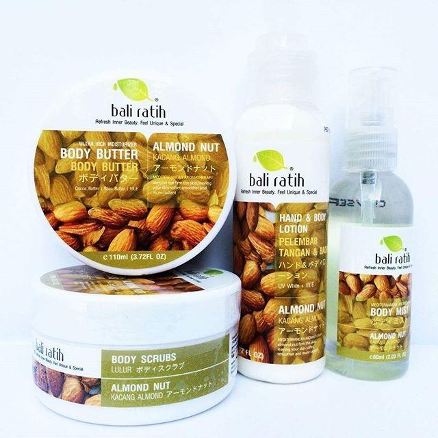 Paket Almond Nut Bali Ratih (Body Scrub, Lotion, Butter, dan Mist)
