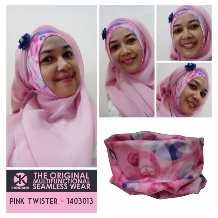 Tribal Pink Source · CK Bandana 1403013 Buff Multifungsi Motif Pink Twister .