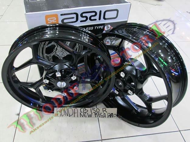 harga Velg lebar hitam putih new megapro axio cnc|velg cb150r|axio|velg mega Tokopedia.com