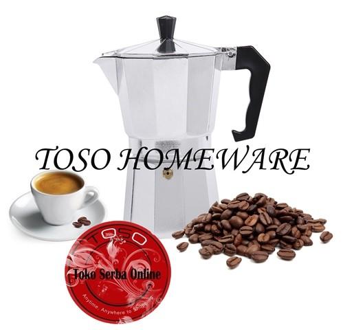Moka Pot Alumunium 6 Cup Mokapot Coffee Espresso Maker Pembuat Kopi