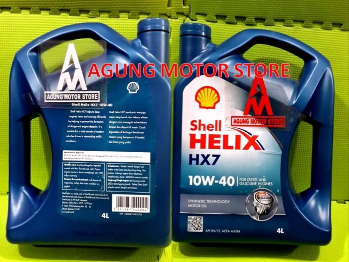 Oli Mesin Shell Helix Hx7 10w 40 Galon 4l
