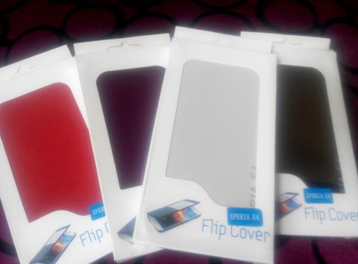 harga Flip cover casing handphone xperia e4 banyak warna new Tokopedia.com