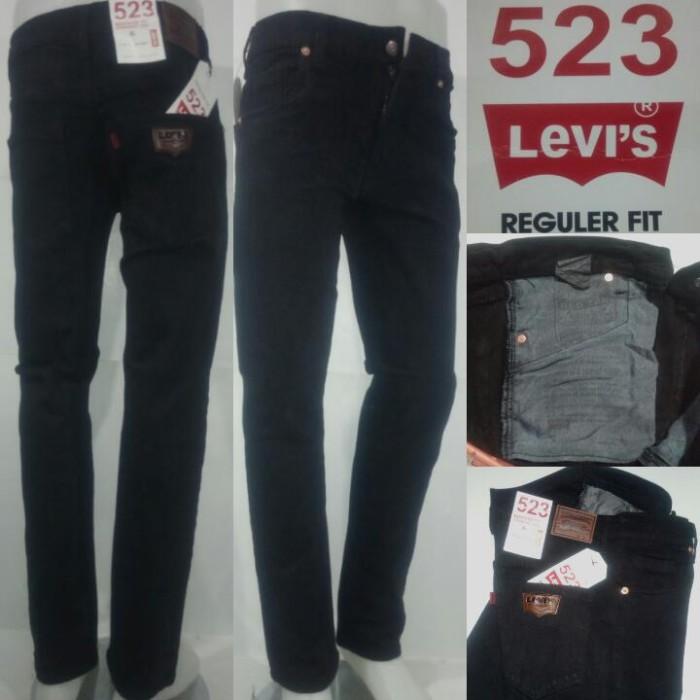 harga Celana jeans levi's 523 slimfit/ pensil hitam pekat laki-laki. Tokopedia.com