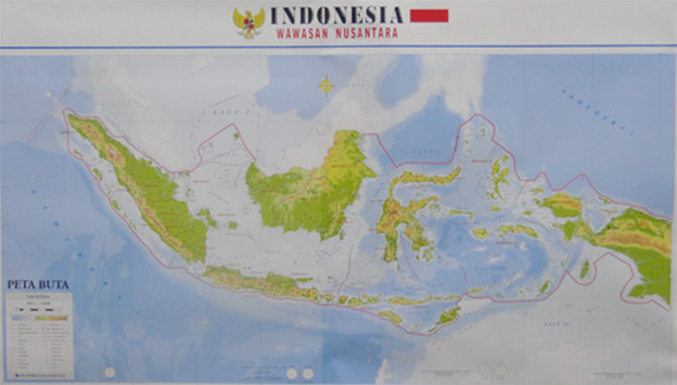 Jual Peta Indonesia Buta Buku Petunjuk Sarana Peraga Pendidikan Gambar